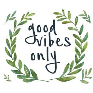 WallPops Good Vibes Only Wall Quote - 19.5-in x 17.25-in