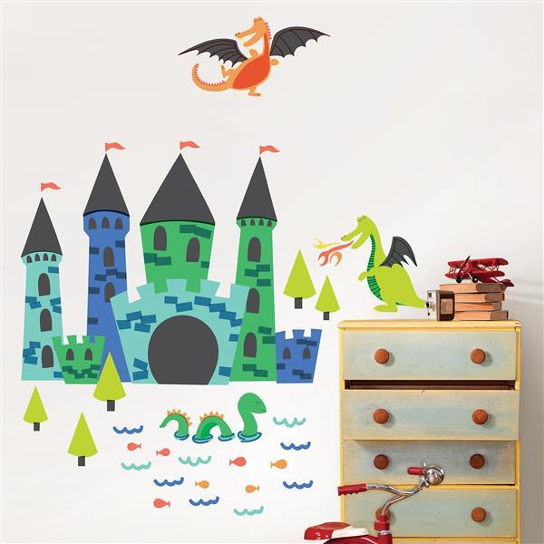 WallPops Lucky Dragons Wall Art Kit - 36-in x 48-in