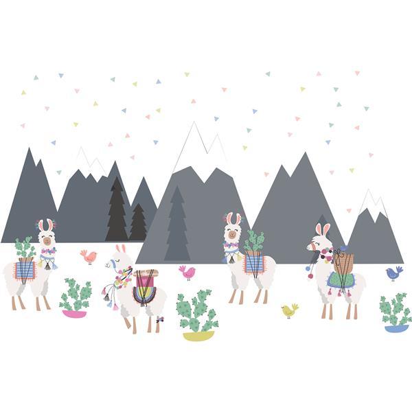 WallPops Laid Back Llamas Wall Art Kit - 34.5-in x 19.5-in