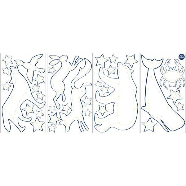 WallPops Stars Glow in the Dark Wall Art Kit - 34.5-in x 19.5-in