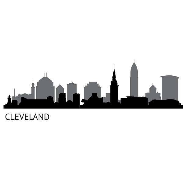 """Trousse d'art mural de paysage Cleveland WallPops,  24"""" x 17,5"""""""