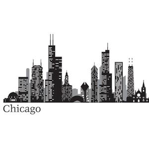 WallPops Chicago Cityscape Wall Art Kit - 24-in x 17.5-in