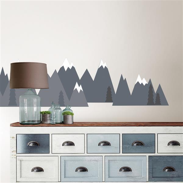 WallPops Mountain Range Wall Art Kit - 36-in x 48-in
