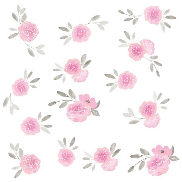 "Trousse d'art mural de fleurs de mai WallPops,  36"" x 48"""