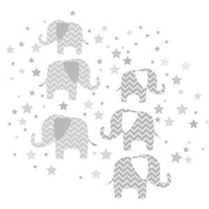 "Trousse d'art mural éléphants WallPops,  39"" x 34,5"""
