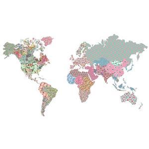 """Trousse d'art mural carte du monde WallPops,  36"""" x 48"""""""