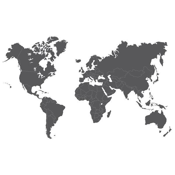 WALLPOPS Giant World Map Wall Art Kit   36