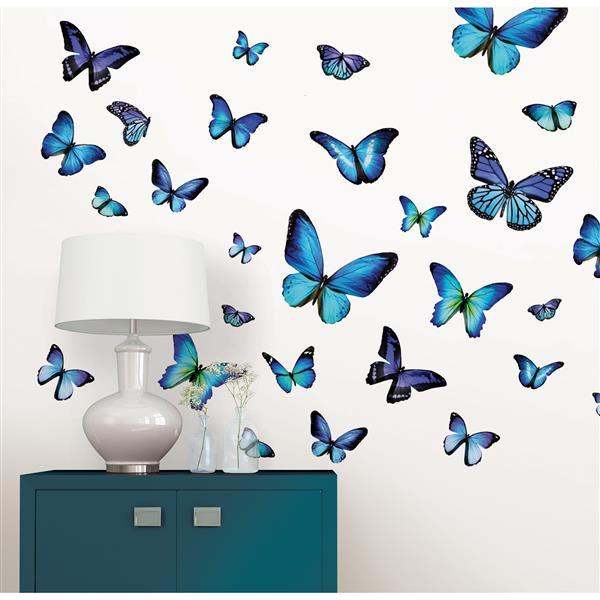 WallPops Mariposa Butterfly Wall Art Kit - 39-in x 34.5-in