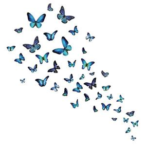 WallPops Mariposa Butterfly Wall Art Kit - 39-in x 34.5-in