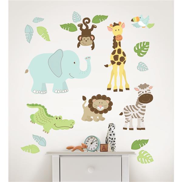 "Trousse d'art mural Safari WallPops,  39"" x 34,5"""
