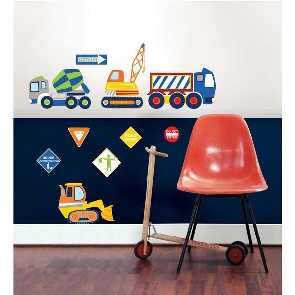 "WallPops Construction Zone Applique Wall Art Kit - 34.5"" x 19.5"""