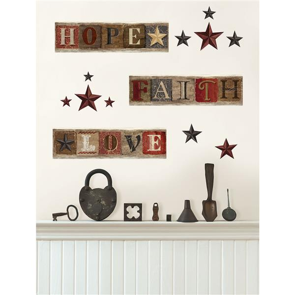 """Mur décalcomanies country WallPops, 34,5"""" x 9,75"""""""