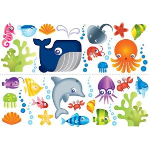 WallPops Under The Sea Stickers - 55-in x 9.75-in