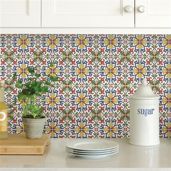 WallPops Tuscan Tile Peel & Stick Backsplash Tiles - 20-in x 20-in