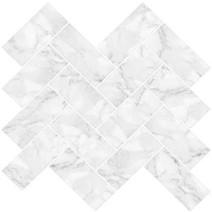 WallPops Herringbone Stick Backsplash Tiles - 10-in x 10-in