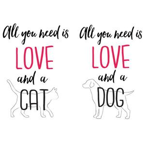 Love and a Pet Wall Quote - 15