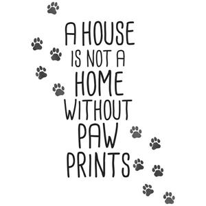 Home With Paw Prints Wall Quote - 30