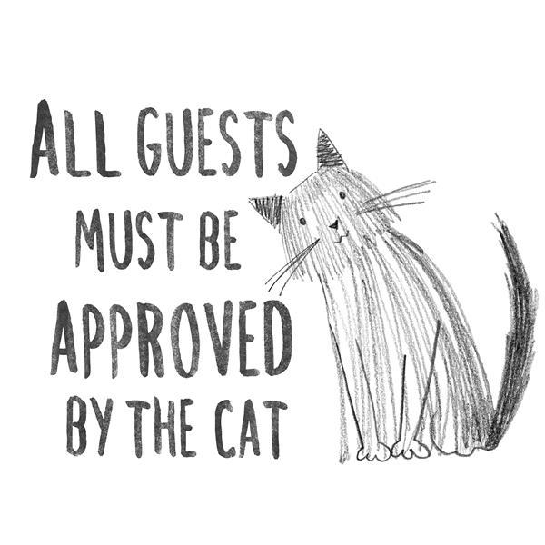 """Papier peint WallPops,  approuvé par le chat, 15"""" x 20"""""""
