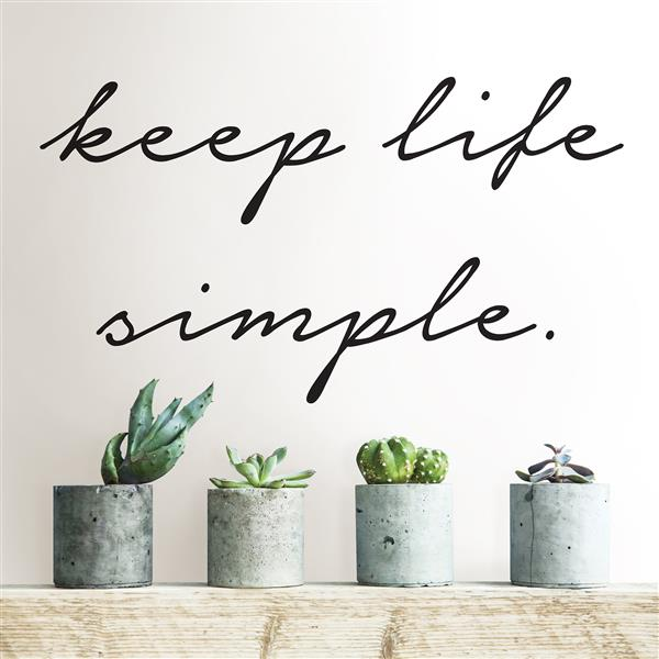WallPops Keep Life Simple Wall Quote - 14-in x 24-in