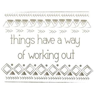 WallPops Things Work Out Wall Quote - 15-in x 18-in