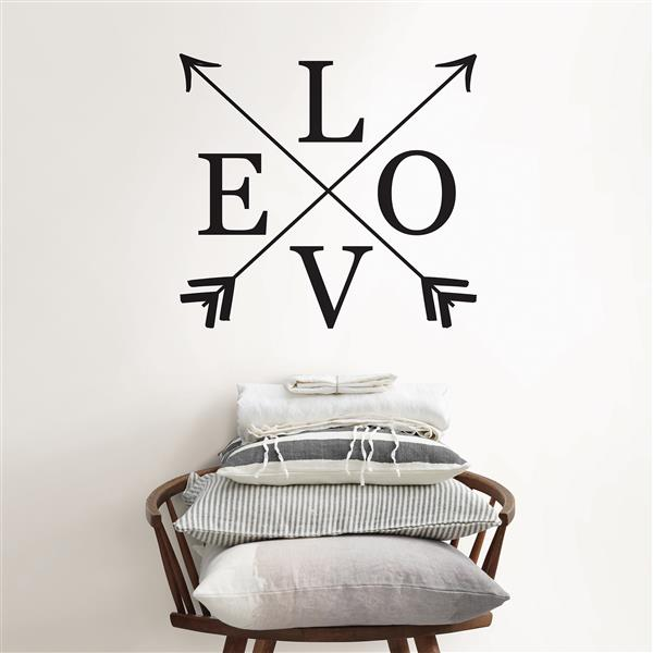 WallPops Follow Love Wall Quote - 17-in x 16-in