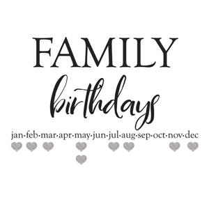 WallPops Family Birthdays Wall Quote - 24-in x 20-in