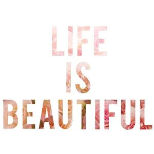 WallPops Life is beautiful Wall Quote - 24-in x 17-in
