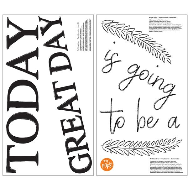 WallPops Great Day Wall Quote - 18-in x 14-in