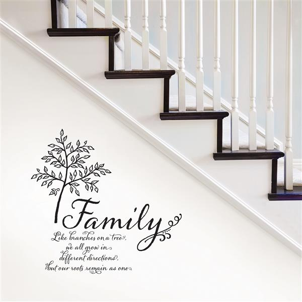 WallPops Family Tree Wall Quote - 20-in x 20-in
