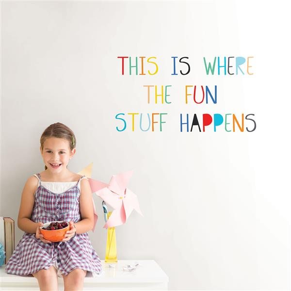 WallPops Fun Stuff Wall Quote - 30-in x 15-in