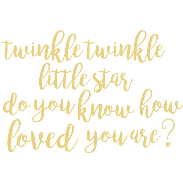 WallPops Twinkle Little Star Wall Quote - 19.5-in x 17.25-in
