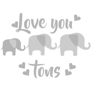 WallPops Love You Tons Wall Quote - 19.5-in x 17.25-in