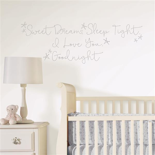 WallPops Sweet Dreams Wall Quote - 19.5-in x 17.25-in
