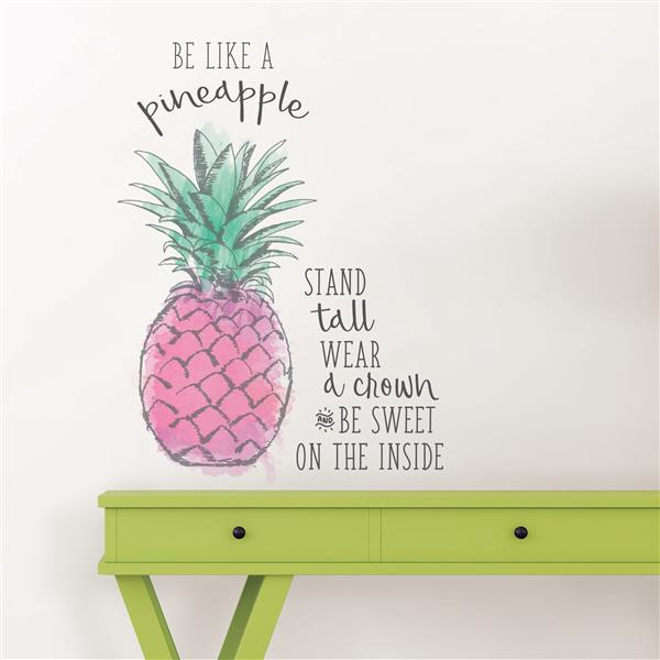 WallPops Be Like a Pineapple Wall Quote - 19.5-in x 17.25-in