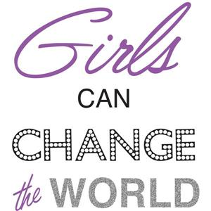 Girls Can Change The World Wall Quote - 19.75