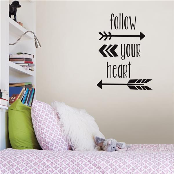 WallPops Follow Your Heart Wall Quote - 19.75-in x 17.25-in