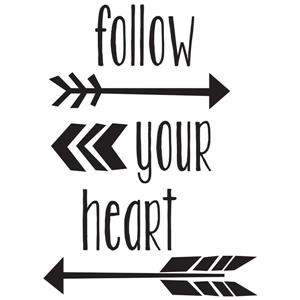 Follow Your Heart Wall Quote - 19.75