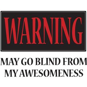 Warning May Go Blind Wall Quote - 19.75
