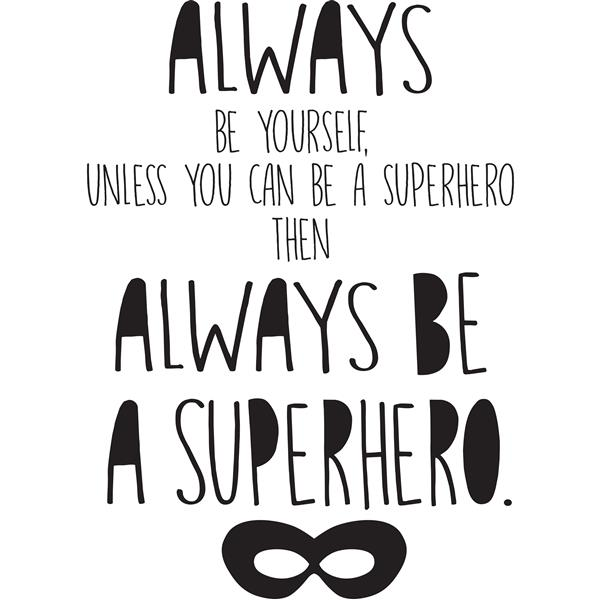 WallPops Superhero Wall Quote - 19.5-in x 17.25-in