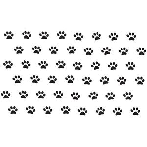 WallPops Paw Prints Wall Art Kit - 30-in x 50-in