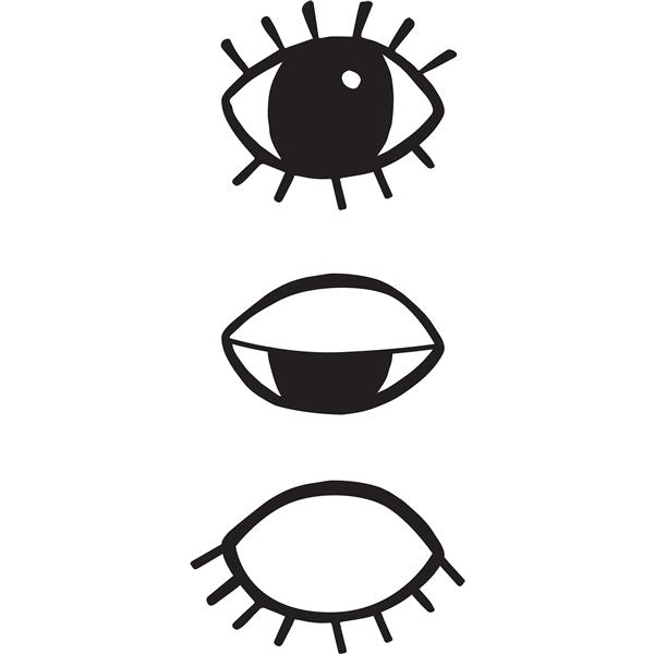WallPops Eyes For You Wall Art Kit - 29-in x 12-in