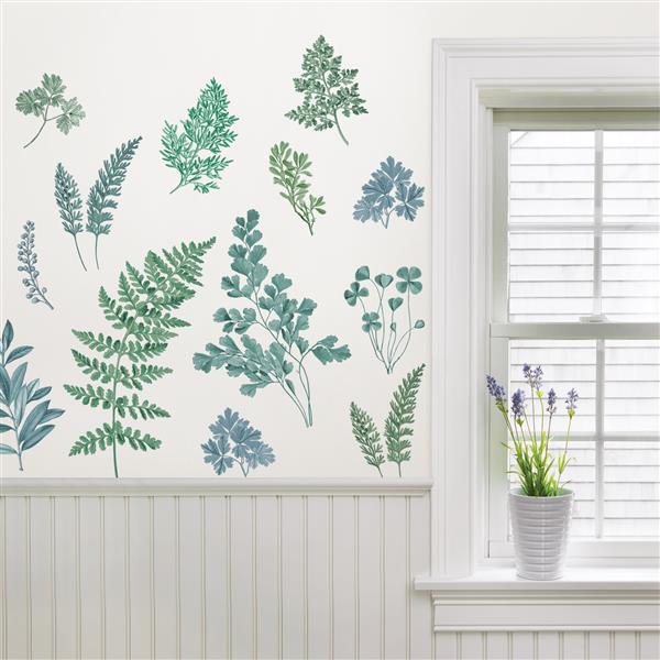"Trousse d'art mural de verdure ,  42"" x 40"" , WallPops"