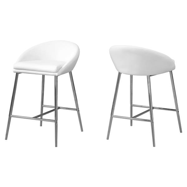 "Tabourets de bar Monarch, 24"", similicuir, ens. de 2"