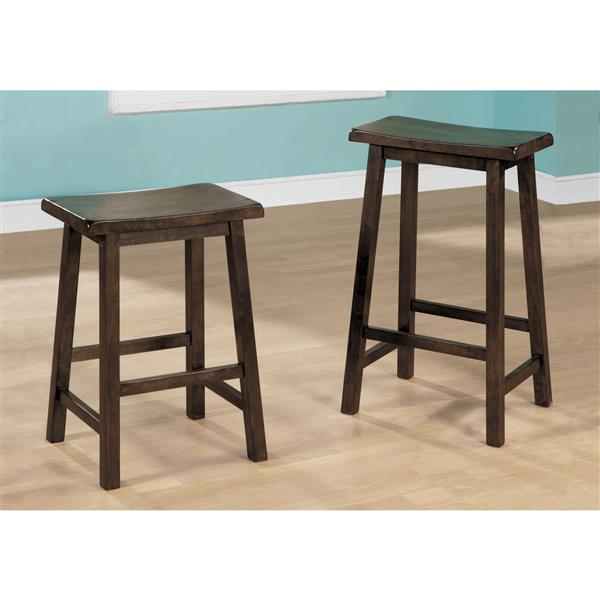 Monarch 24-in Wood Brown Barstools (Set of 2)