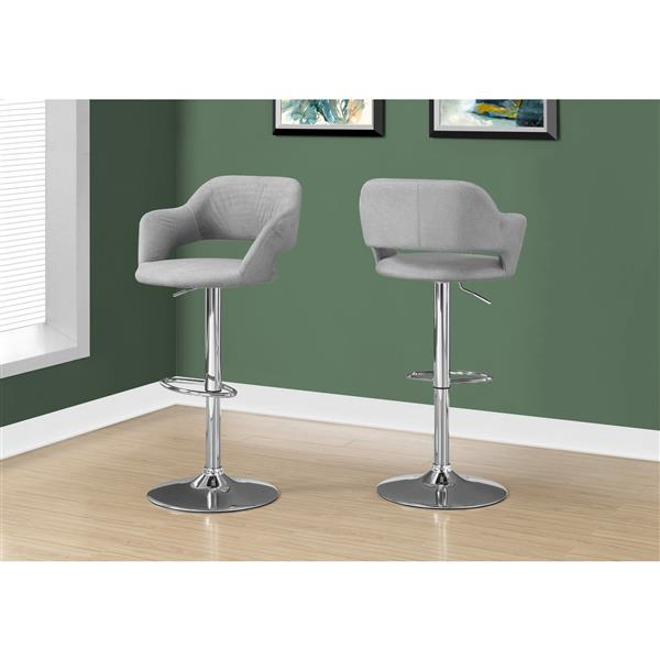 Monarch 24.25-in Polyester Grey Barstool