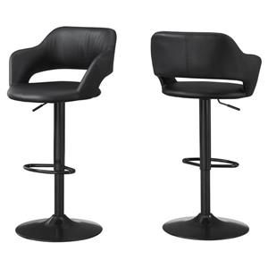 "Tabouret de bar Monarch, 24,25"", similicuir, métal noir"