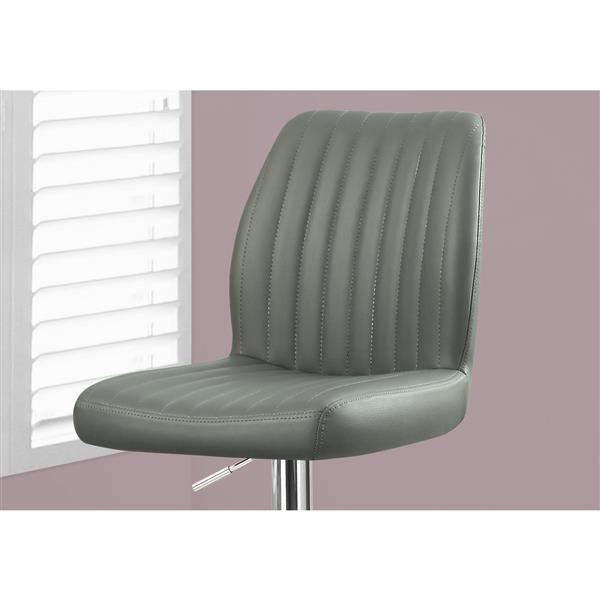 Monarch 26-in Grey Faux Leather Bar Stools  (Set of 2)