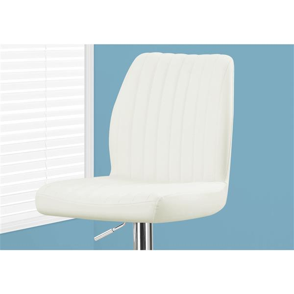 Monarch 26-in White Faux Leather Bar Stools  (Set of 2)
