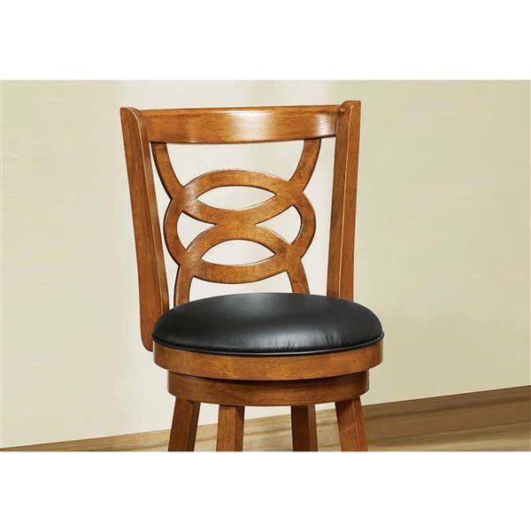 Monarch 24-in Faux Leather Brown Barstools (Set of 2)