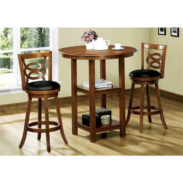 Monarch  29-in Brown Faux Leather Bar Stools (Set of 2)